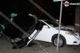 Վթար. Mercedes-ը հայտնվել է Toyota-ի վրա, Toyota-ն բախվել է ծառին, տուժել է Opel-ը