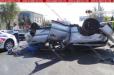 Ավտովթար՝ Երևանում․ Mercedes-ներից մեկը գլխիվայր շրջվել է, կա զոհ