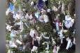 Ժապավենի փոխարեն՝ դիմակ. Գեղարդի վանքի տարածքում ծառերին դիմակներ են կապել