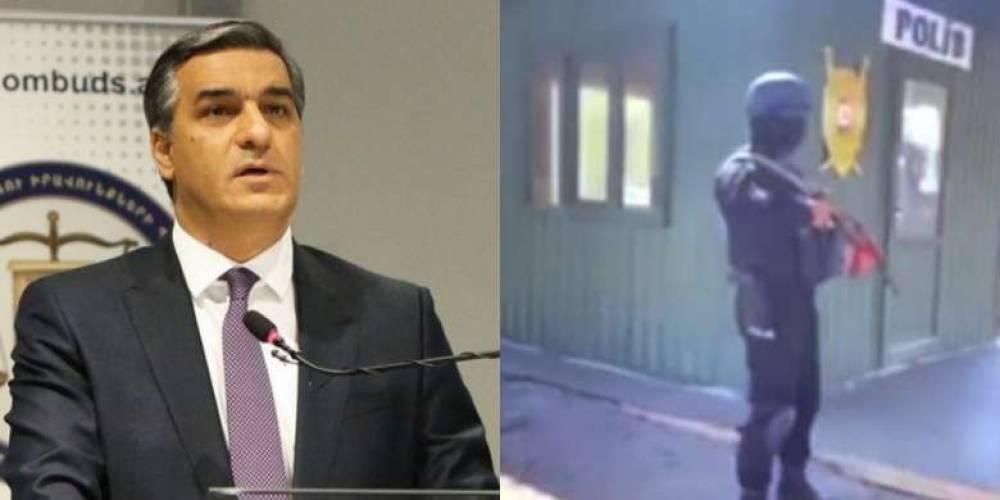 Ադրբեջանական զինված ծառայողներօ, դեմքերը փակած, Իրանի վարորդներին ներկայանում են, որ իրենք հայ են